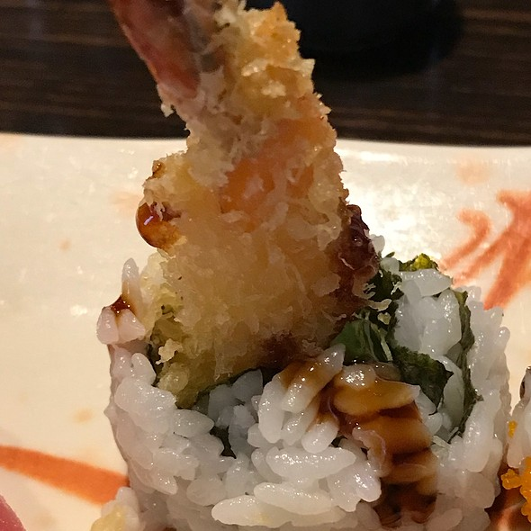 Shrimp Temp Roll Close Up @ Sushi Village