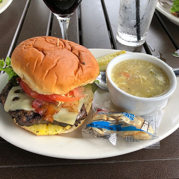 Hawaiian Burger with Soup of the Day