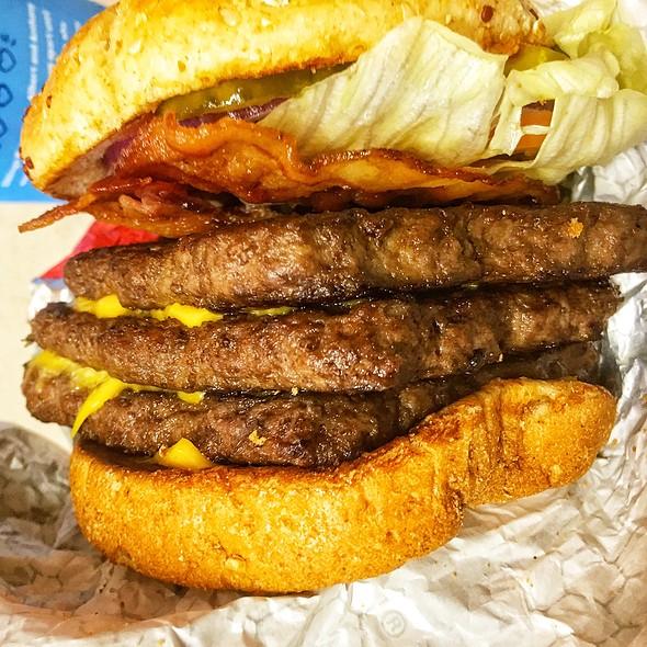 Triple Cheeseburger On Multigrain