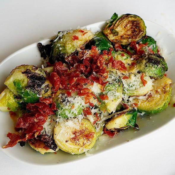 Brussels sprouts, prosciutto di San Daniele, parmesan