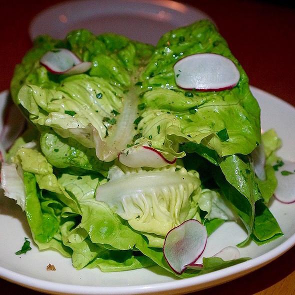Butter lettuce salad, Dijon vinaigrette, fines herbes, radish