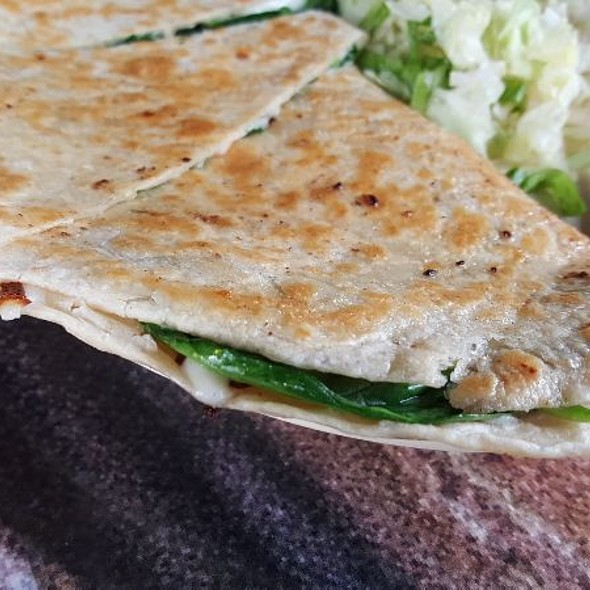 Spinach and Mushroom Quesadillas @ Christian's Tailgate Heights
