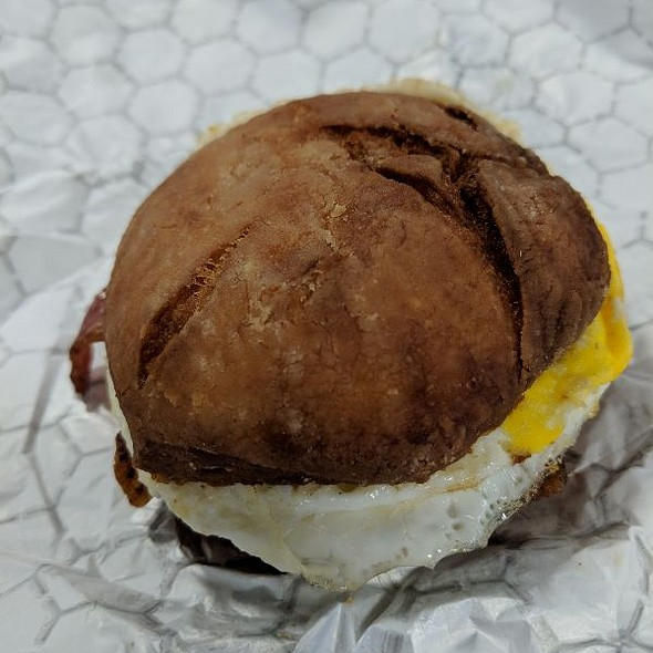 Egg And Bacon Breakfast Sandwich @ Bigmouth Donut Company