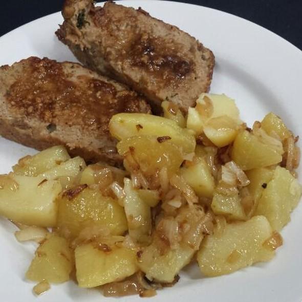 Faschierter Braten Mit Zwiebel-Kartoffeln