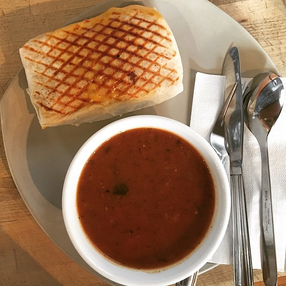 Tomato Dill Vegetable Soup & Breakfast Wrap Combo