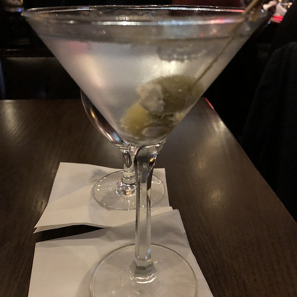 Hendrick's Martini With Blue Cheese Stuffed Olives