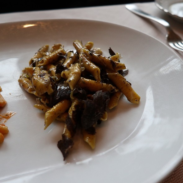 Garganelli Pasta with Black Truffles, Bagna Cauda, and Parmigiano