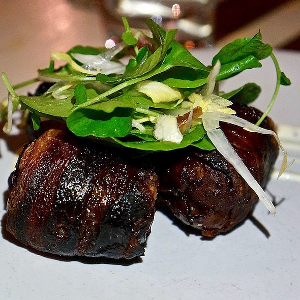 Bacon wrapped dates, linguica, manchego