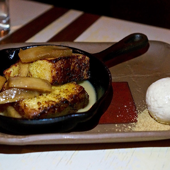 Torrejas, dulce de leche soaked French toast, maple caramelized apples, cinnamon ice cream