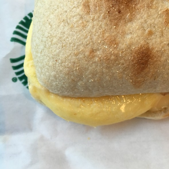 Bacon, Egg, And Gouda Breakfast Sandwich @ Starbucks