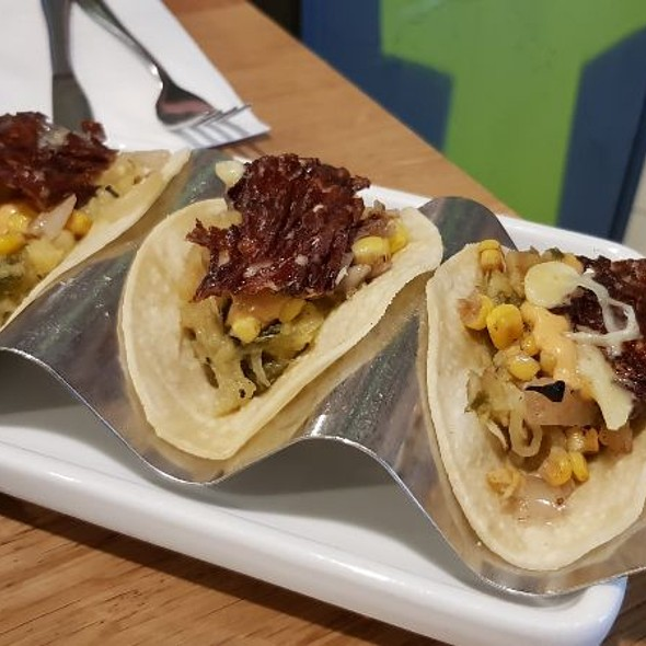 Fire-roasted Poblano Pepper & Corn Tacos With Cheese @ Wahaca Manchester