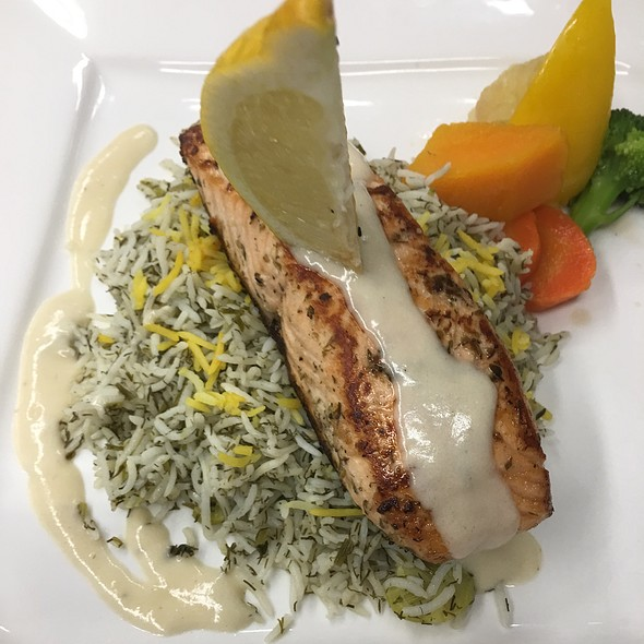 Wild Salmon With Dill Rice