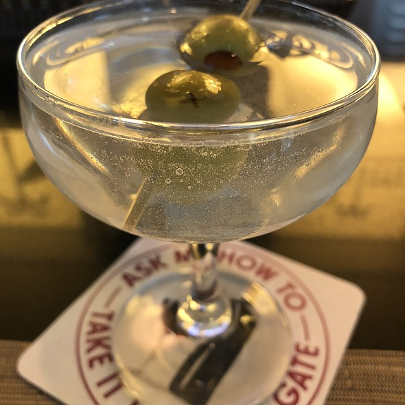 Hendrick's Gin Martini Cocktail With Olives