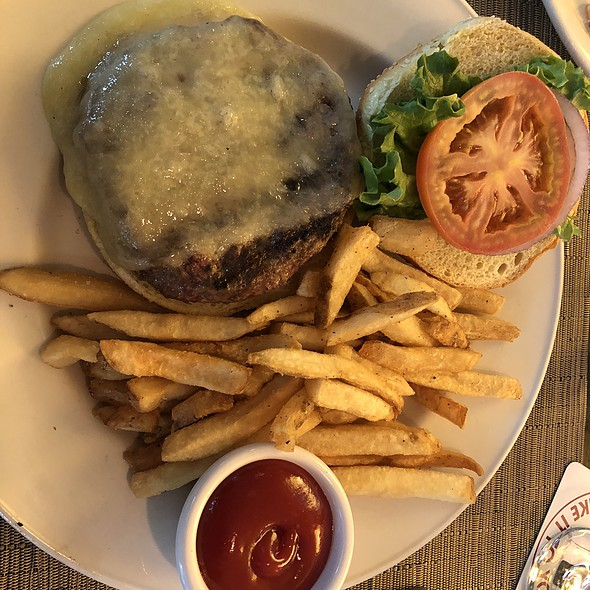Cheddar Cheeseburger with French Fries
