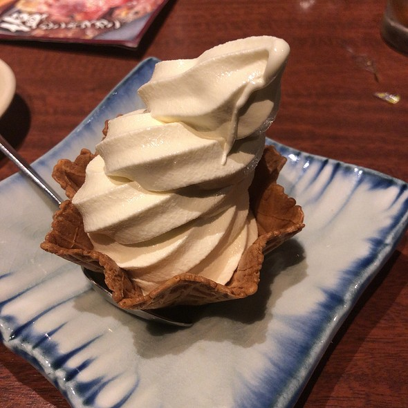 Soft Served Ice Cream with Waffle Cone