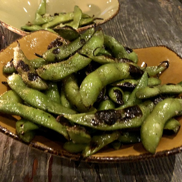 Charred Edamame with Yuzu Lime, and Citrus Salt