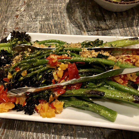 Grilled Broccolini, Preserved Lemon, Calabrian Chili, Shallots, and Bread Crumbs