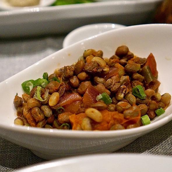 Sautéed bora beans, onion, tomato