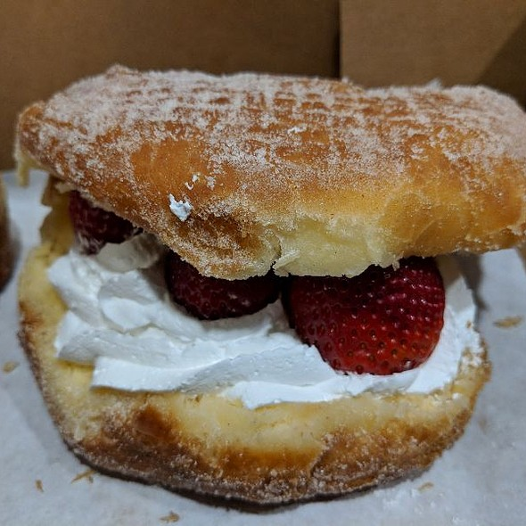 Strawberries & Cream Donut