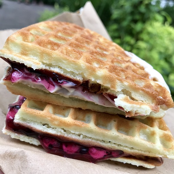 Blueberry Cream Cheese Waffle
