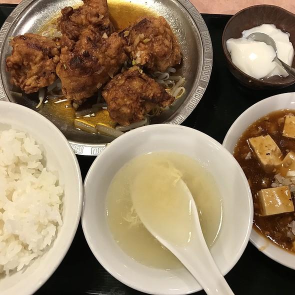 鶏唐ソース掛け定食