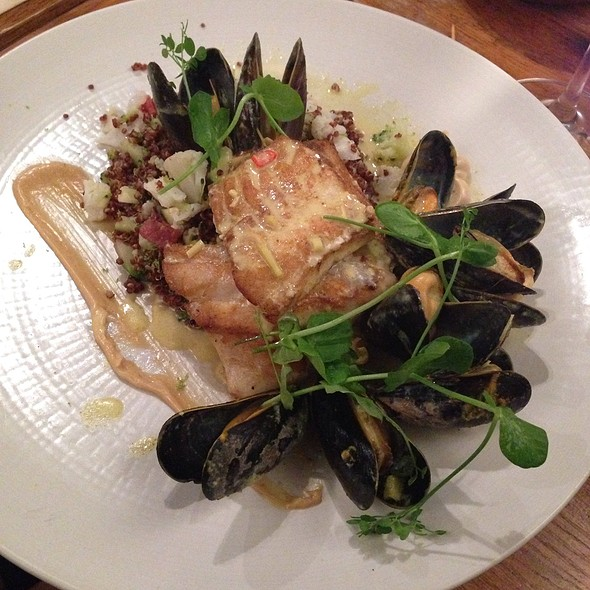 Roasted Plaice, Mussels, Pancetta, Quinoa, Sourdough Bread