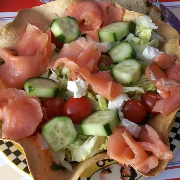 Salmon salad @ 1950 American Diner