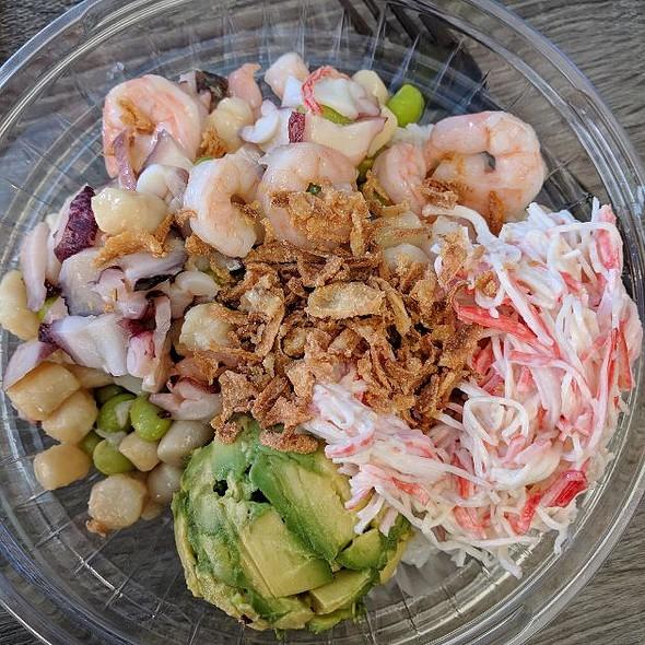 Shrimp & Smoked Salmon Poke @ Pokey Cafe