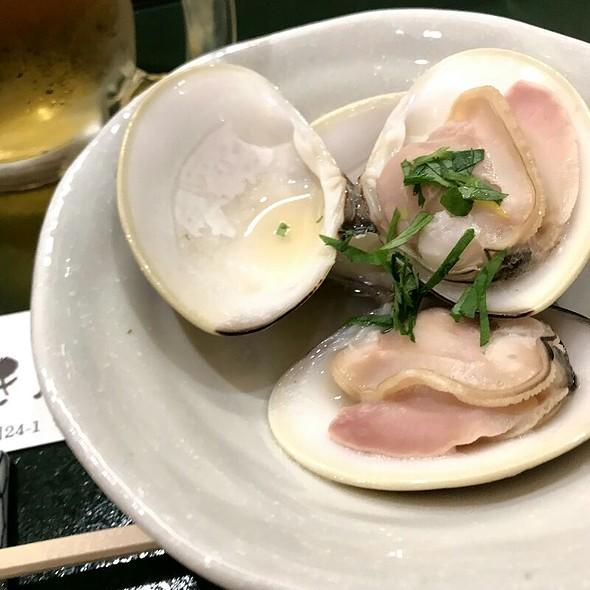 蛤の酒蒸し @ とき鮨
