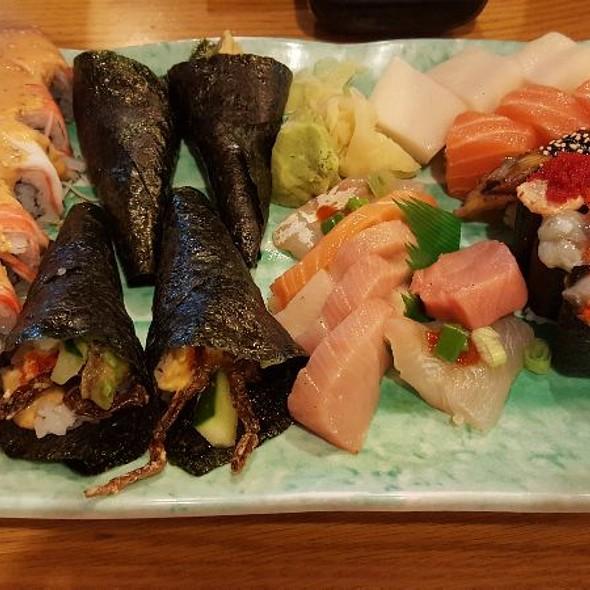 Assorted Sushi, Sashimi And Rolls