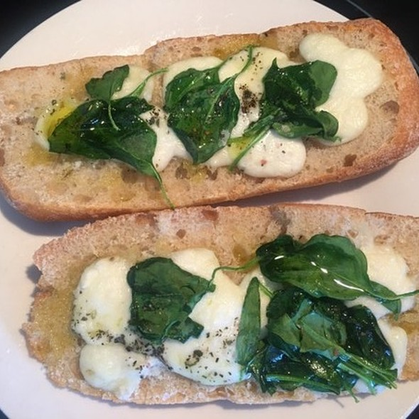 Spinach Mozzarella Ciabatta @ Apartment