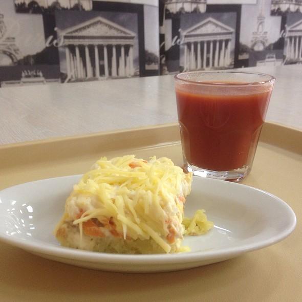 Tuna Salad and Tomato Juice