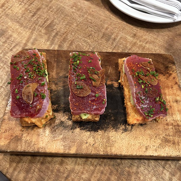 Big Eye Tuna Tataki on Spanish Toast