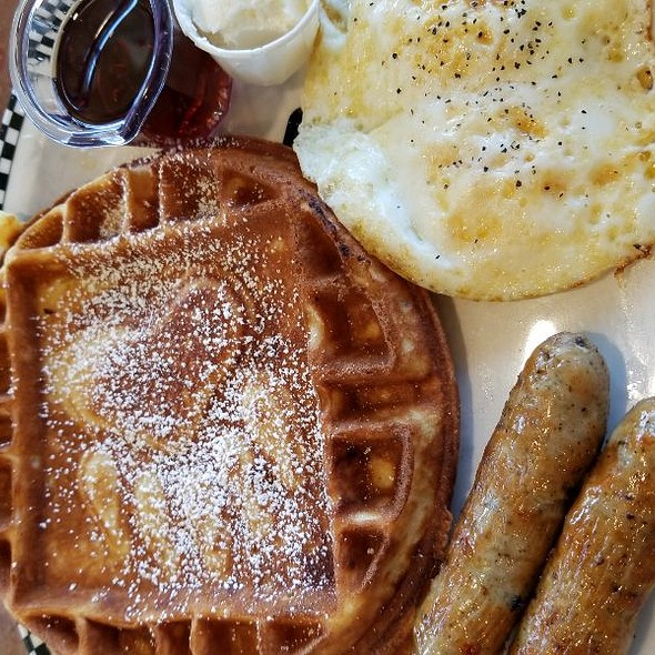 Fried Eggs And Waffles @ Black Bear Diner