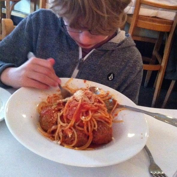 Spaghetti Polpette - Trattoria Grappolo, Santa Ynez, CA