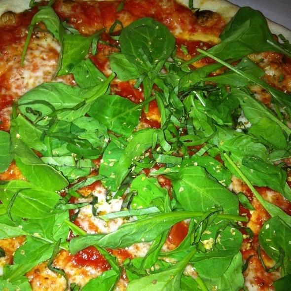 Pizza Margherita with Arugula - Trattoria Grappolo, Santa Ynez, CA