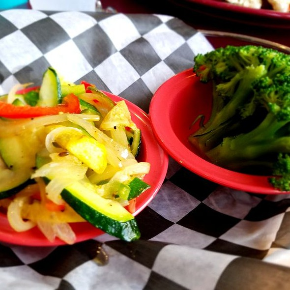 Broccoli & Sauteed Squash