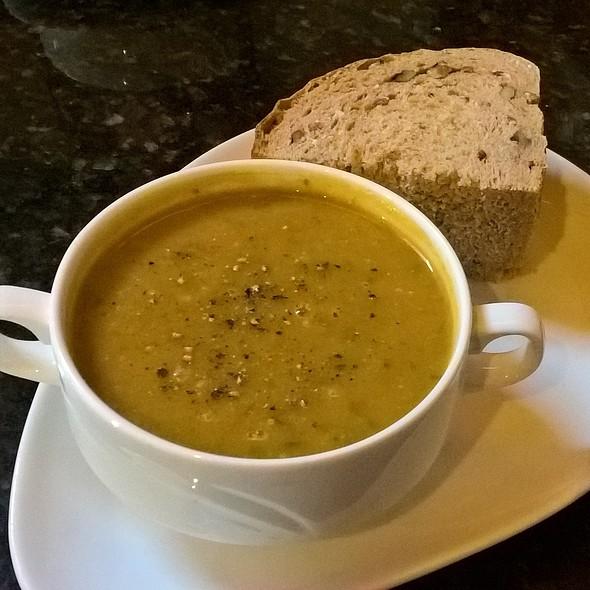 Artichoke, Celeriac, Wild Garlic and Basil Soup
