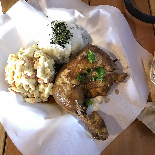 Shoyu Chicken with Macaroni Salad