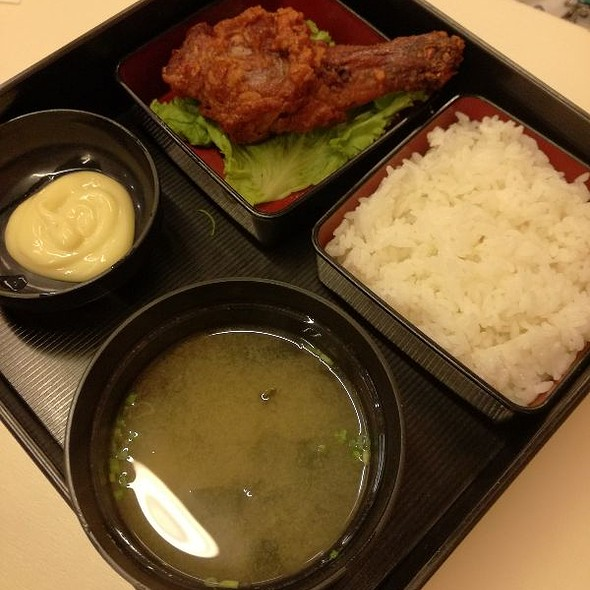 Fried Chicken with Miso Soup
