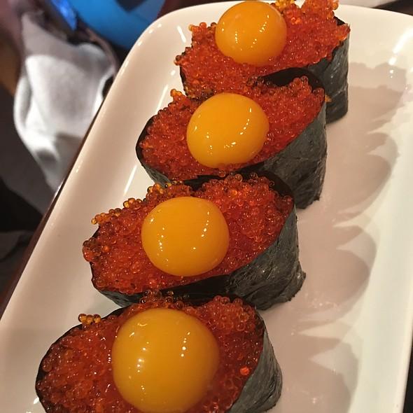 Massago Sushi With Quail Egg @ nikkyu japanese restaurant