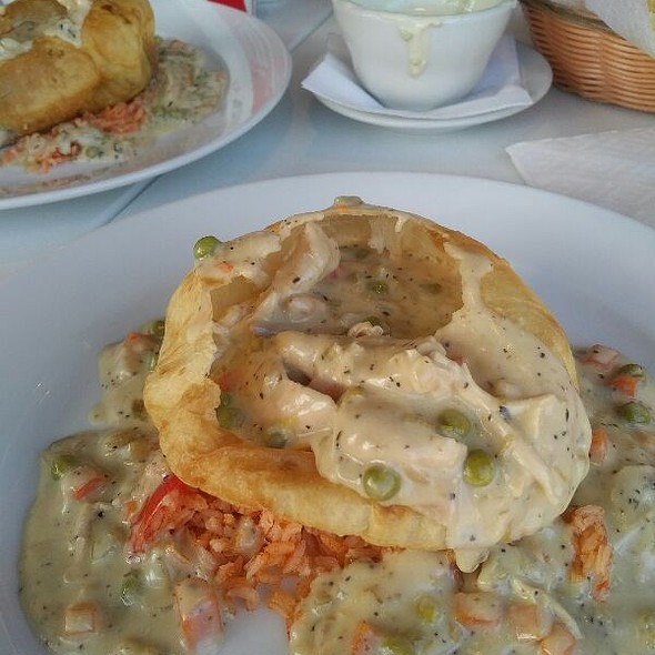 hatch chile chicken pot pie  @ Taqueria Del Sol