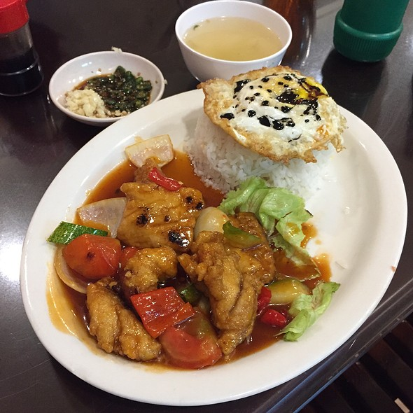 Sweet & Sour Fish With Rice & Sunny-Side Up