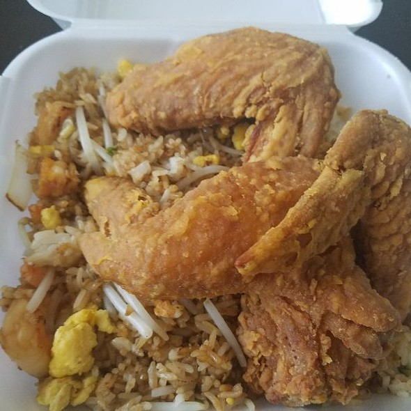 3 Wings And Shrimp Fried Rice