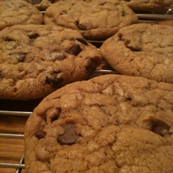 Big fat chewy chocolate chip cookies @ Sopher home