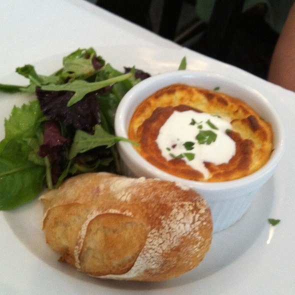 Goat cheese souffle @ Boat Street Cafe