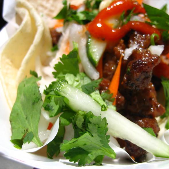 Grilled Pork Tacos @ Nom Nom Truck