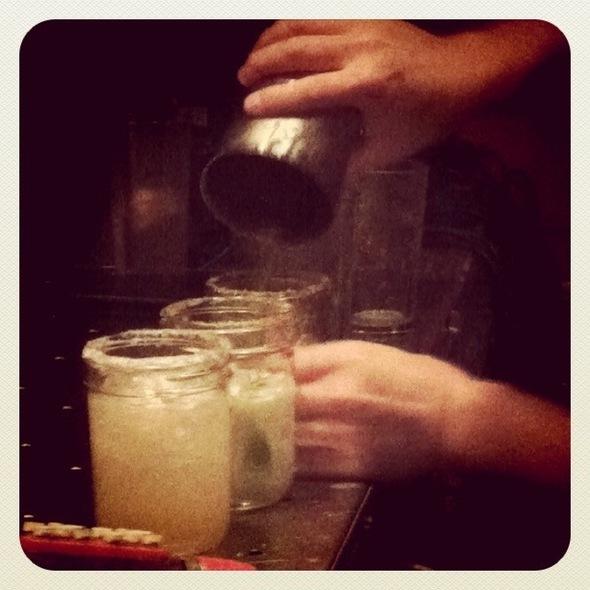 Mason Jar Margaritas @ Basic