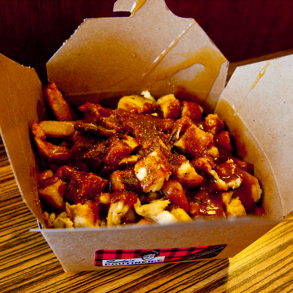 Curry Chicken Poutine @ Smoke's Poutinerie