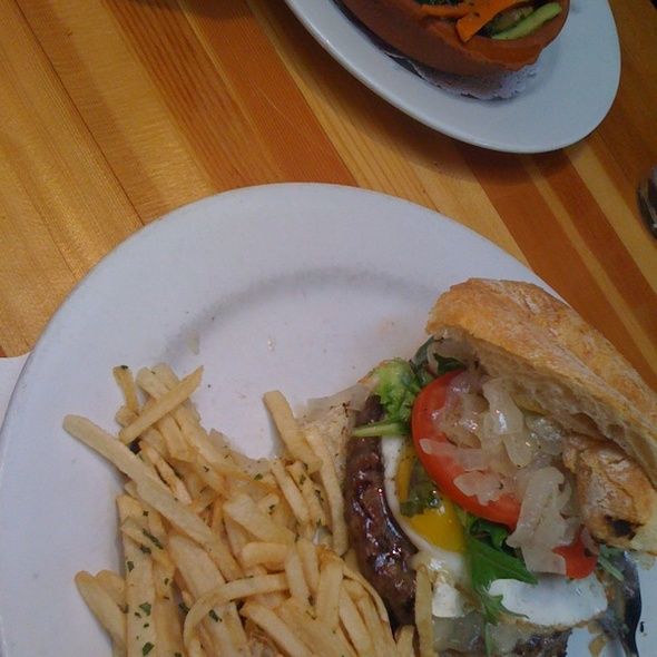 Burger With Brie & Egg @ Chez Maman